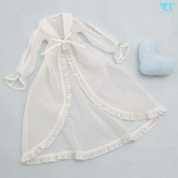 Long Baby Doll Set (White Dotted)