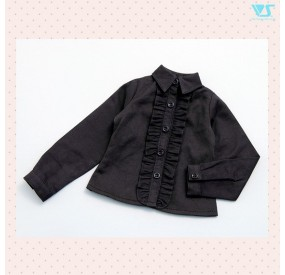 Ruffled Blouse (Black)