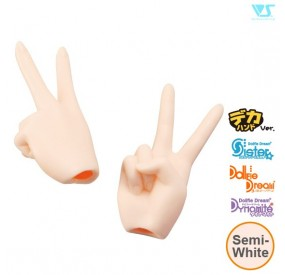 DDII-H-02B-SW / Scissors/Peace Hands (Large Ver.) / Semi-Whi