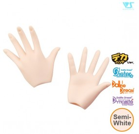 DDII-H-04B-SW / Paper/Outspread Hands (Large Ver.) / Semi-White