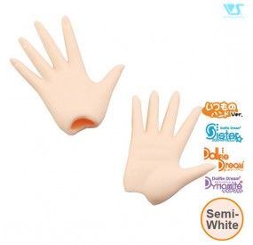 DDII-H-04-SW / Paper/Outspread Hands / Semi-White
