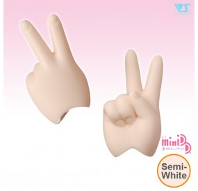 MDD-H-02-SW/ Scissors/Peace Hands / Semi-White