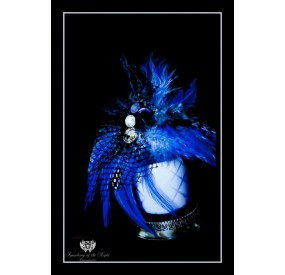 Blue Feather 60x40 cm