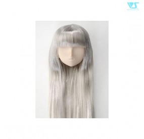 DD CHH Center Part Straight  A head Normal  Silver