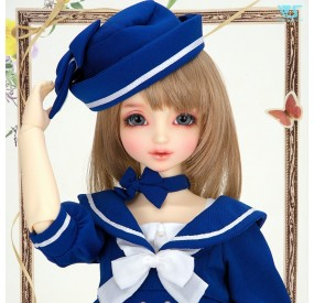 Sailor Style Dress (Blue)