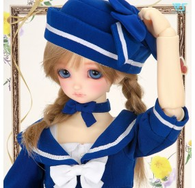 Sailor Style Dress (Blue) / Mini