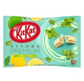 kitkat mini premium citrus mint & white chocolate