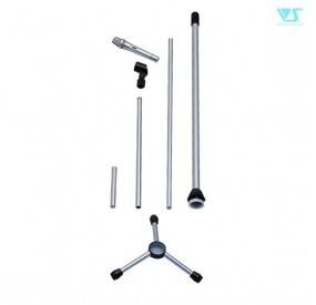 Microphone & Microphone Stand Set (Silver)