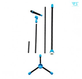 Microphone & Microphone Stand Set (Vivid Blue)