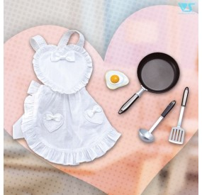 Frying Pan & Heart-Shaped Apron Set